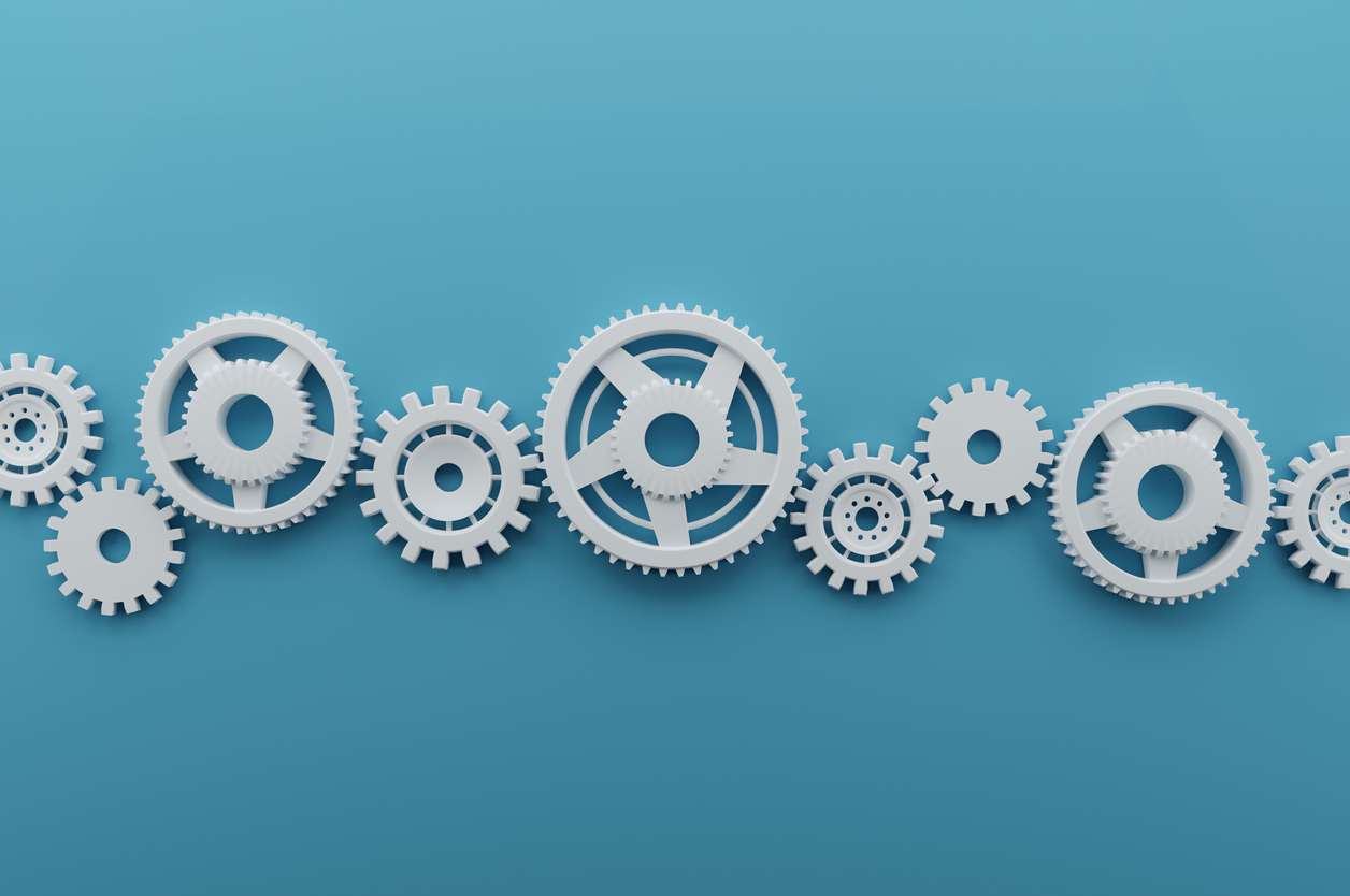 A series of gears
